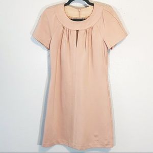 Trina Turk blush pink lined dress w keyhole sz 4